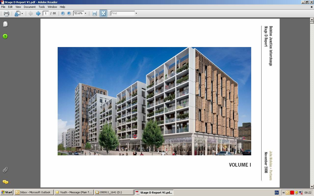 Grade 18 GRC, Dalston Square - Visual